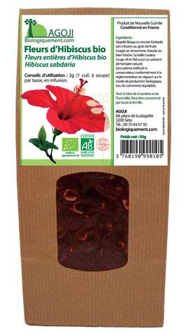 Achetez de la Fleur d'Hibiscus bio utilisé en phytothérapie, boisson tonifiante et drainante