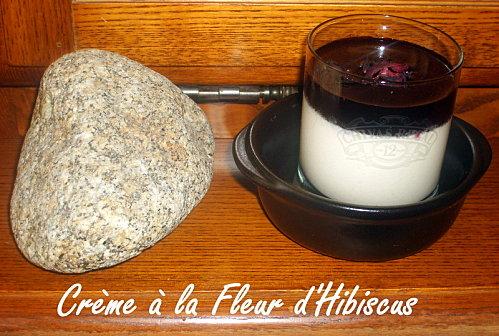 Recette de la crème à la Fleur d'Hibiscus